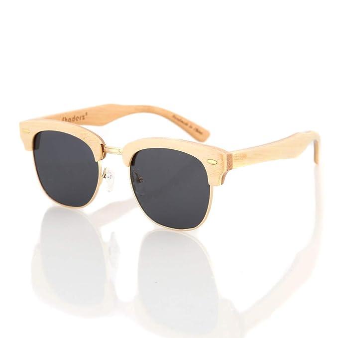 Amazon.com: Madera anteojos de sol polarizadas Naturales ...