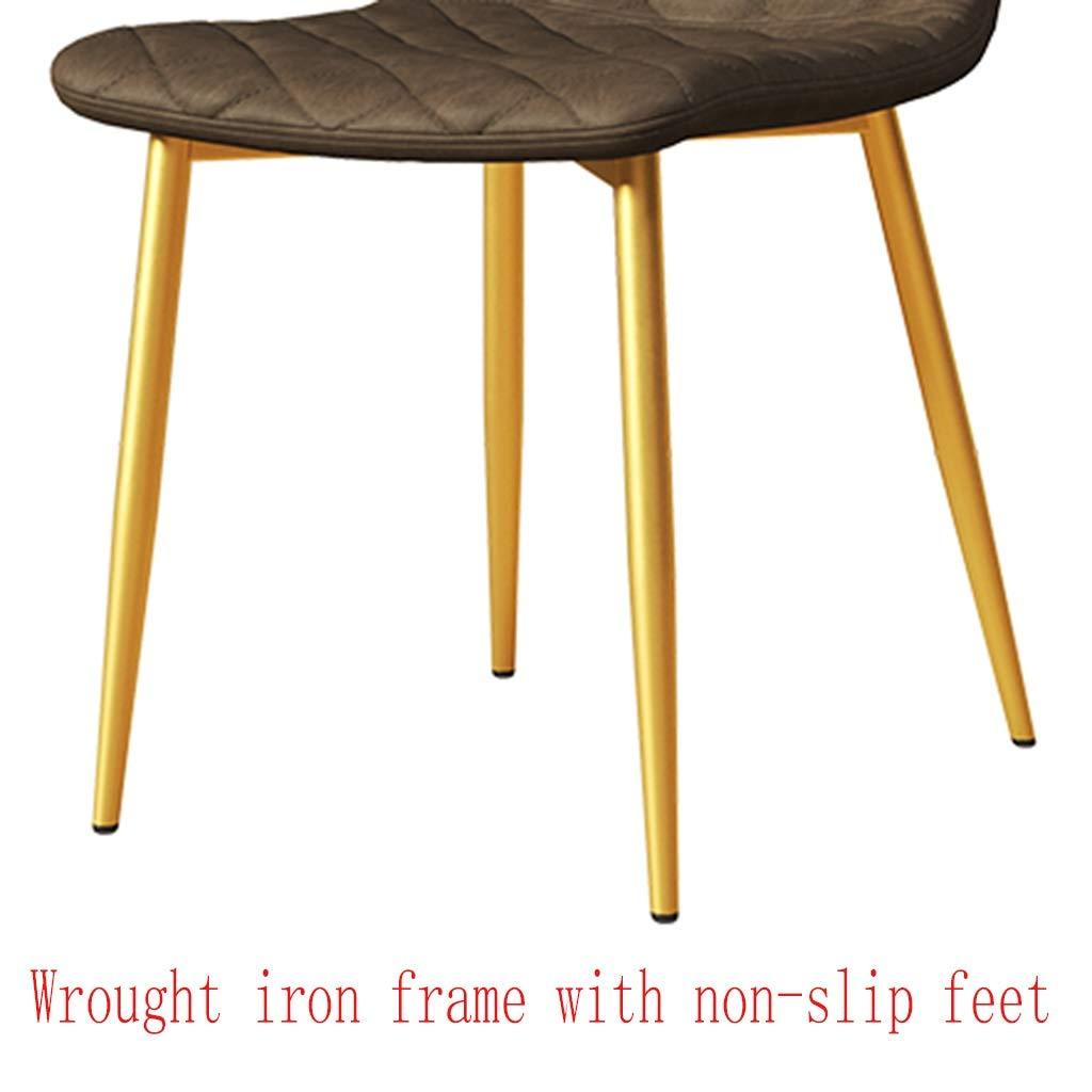 HEJINXL köksstolar, uppsättning med 2 matstolar förtjockat PU-läder ryggstöd järnhårdvara ram modern nordisk stol hem enkel kontor konferensstol (färg: A) b