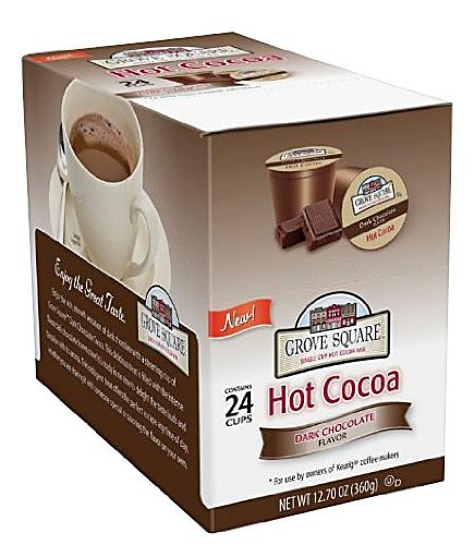 Grove Square Hot Cocoa Cups, Dark Chocolate, Single Serve Cup for Keurig K-Cup Brewers, 24-Count (Pack of 2)