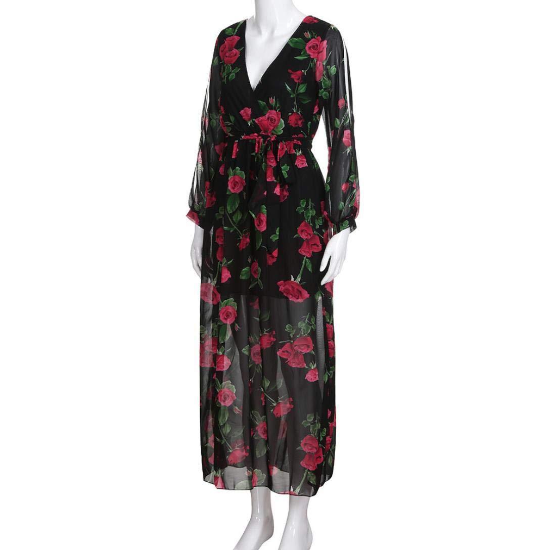 POLP Vestidos otoño Invierno 2018,Tallas Grandes Vestidos de Fiesta,Vestidos Mujer Verano 2018 Casual,Vestido Fiesta Mujer,Mujer Vestido Estampado de Gasa ...