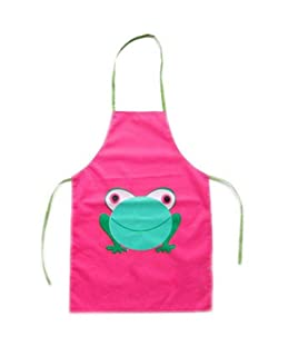 2-7 Years Old Kids Apron PVC No-rinse Frog Apron FUCHSIA PANDA SUPERSTORE PS-TOY2528022011-EMILY01588
