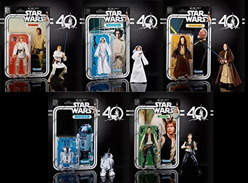 40th Anniversary Set (Star Wars The Black Series 40th Anniversary 6 Inch Figure Wave 1 Set Of)