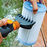 Aquatix Pro Premium Pool & Spa Filter Cartridge Cleaner, Removes Debris & Dirt from Pool Filters in Seconds, Heavy Duty & Durable Pool Cartridge Filter Cleaner, for a Clean Flow of Water Today! (1)