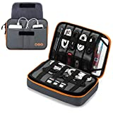 BAGSMART Large Travel Electronic Accessories Thicken Cable Organizer Bag Portable Case for Hard Drives, Cables, Charge, Kindle, 9.7' iPad