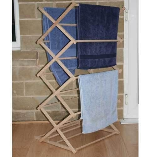 Hallways Classic Vintage Wooden Folding Clothes Washing Airer Clothes Horse