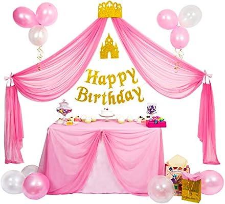 Amazon.com: Princesa Party Supplies - Set de decoración de ...