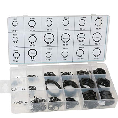 300 Pc Steel Snap Retaining Ring Hardware Assortment Set Kit With 18 Sizes,Jikkolumlukka from Jikkolumlukka