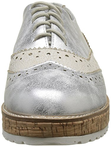 The Divine Factory Damen Carmina Oxfords Silber (Argent)