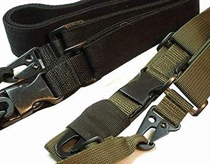 Wisha Correa Ajustable de Tres Puntos para Rifle USMC Army marrón