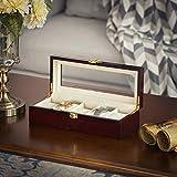 SONGMICS Watch Box, Wooden Watch Organizer, 5 Slots