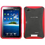 MYBAT SAMGTP1000CASKGM0036NP Soft Gummy Protective Case for SAMSUNG: P1000 (Galaxy Tab)  - 1 Pack - Retail Packaging - Clear/Pink
