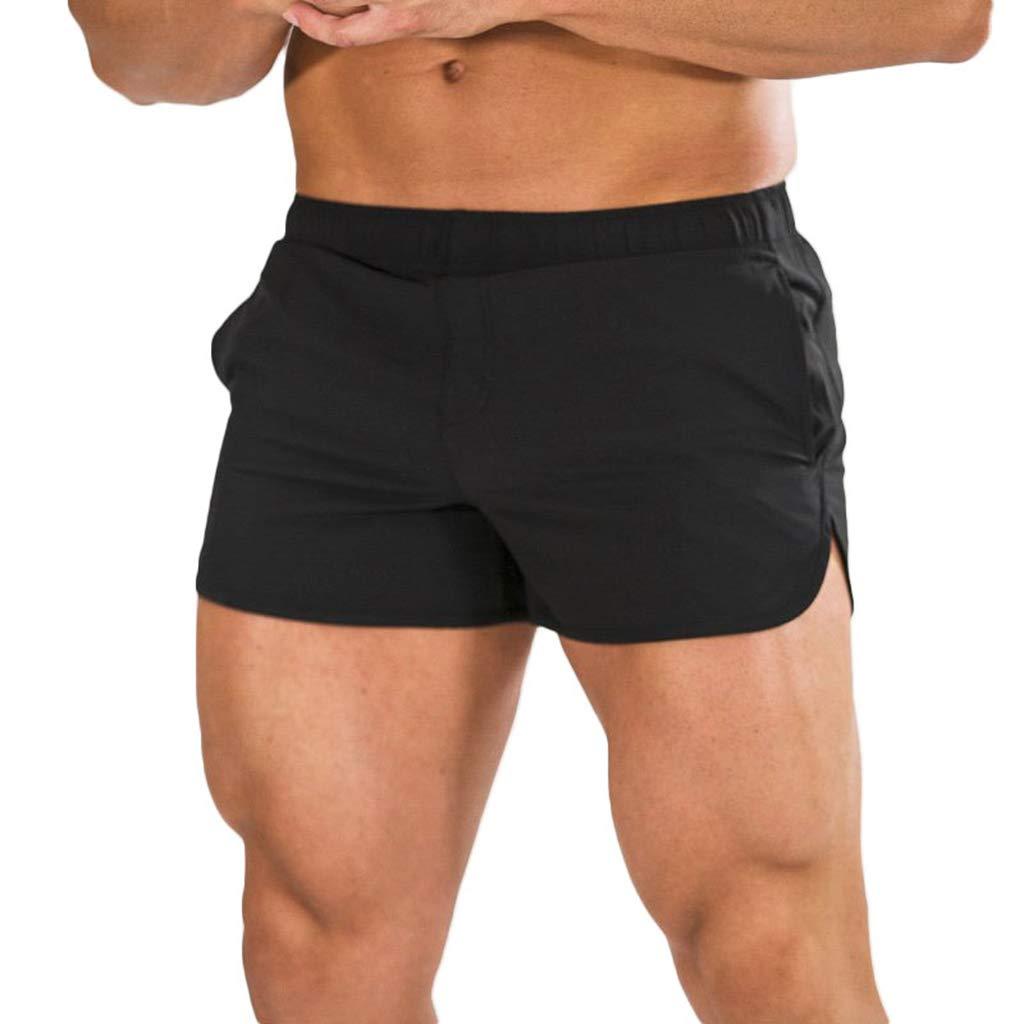 2018 Summer New ! PASATO Classic Men Gym Casual Sports Jogging Elasticated Waist Shorts Pants (XXL, Z-Black)