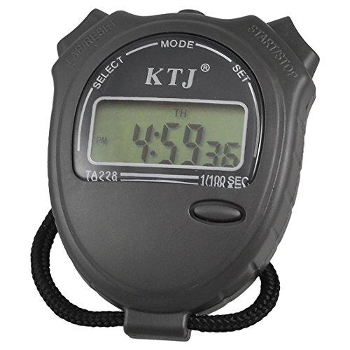 Noir Collier LCD gris foncé Chronomètre Montre numérique