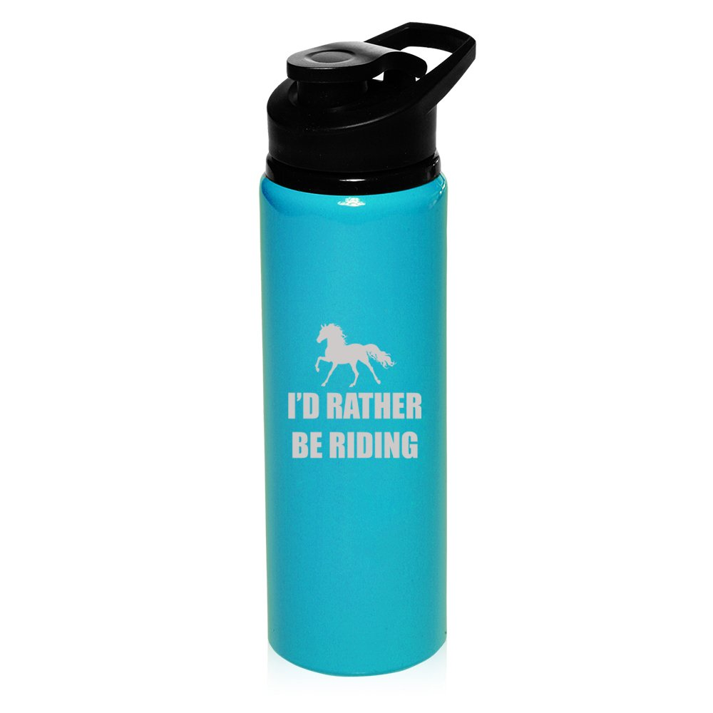 25 Oz Aluminium Sport Wasser Flasche I 'd Rather Be Riding Horse