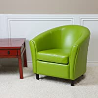 Christopher Knight Home 220323 Napoli Lime Bonded Leather Chair, Green