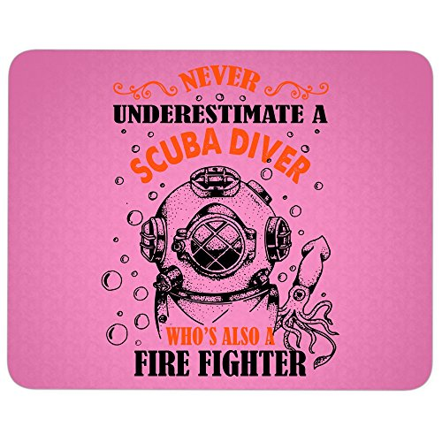 Never Underestimate great gift idea Mousepad, I'm A Firefighter Mouse Pad (Mouse Pad - Hot Pink)]()