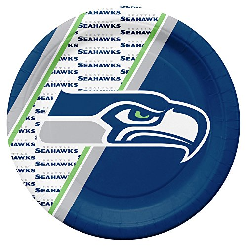 NFL Seattle Seahawks Disposable Paper Plates, Pack of 20