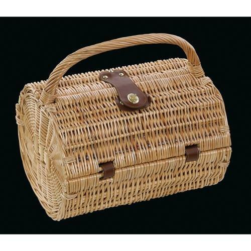 Cilio 0000155945 Picknick-Korb Mandello, Vollweibe, braun, 35 x 3 x 30 cm