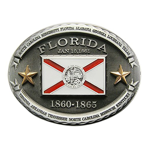 New Vintage Florida Western Oval State Flag Belt Buckle also Stock in - Flag Buckle Belt New