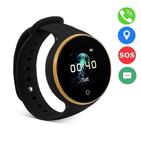 Vbestlife Reloj Inteligente para Niños SOS LBS + GPS + AGPS Posicionador Rastreador Kid Safe Anti