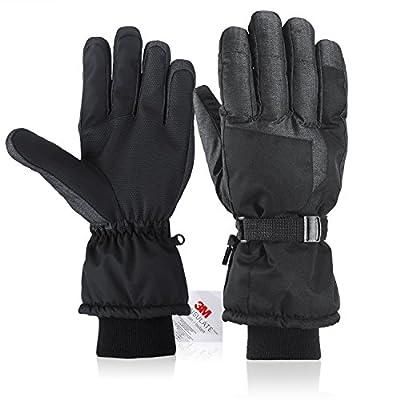 Fazitrip Men Ski Gloves Waterproof Windproof Sensitive Touchscreen gloves