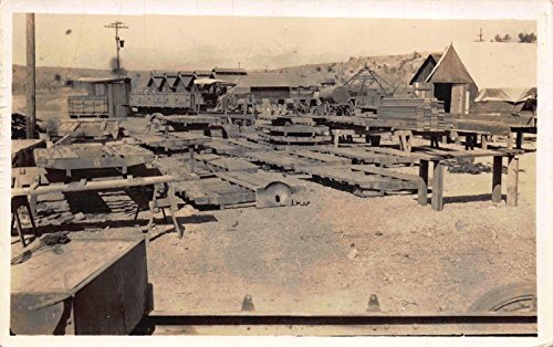 Railroad Real Photo Train (Real Photo Postcard California Railroad Train Parts Construction Yard~114710)