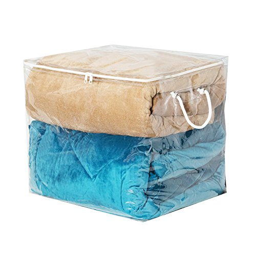 Richards Homewares Clear Vinyl Cube Storage Bag, - Storage Underbed Bag Chest