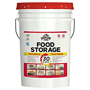Augason Farms 30-Day Emergency Food Storage Supply 29 lb 4.37 oz 7 Gallon Pail (2 PAILS, 29)