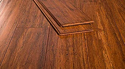 Ambient Bamboo - Bamboo Flooring Sample, Color: Carbonized Antiqued, Solid Strand Tongue and Groove