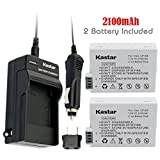 Kastar LPE8 Battery (2-Pack) and Charger Kit for Canon LP-E8, LC-E8E, Canon EOS 550D, EOS 600D, EOS 700D, EOS Rebel T2i, EOS Rebel T3i, EOS Rebel T4i, EOS Rebel T5i Cameras and BG-E12 Grip