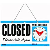 U.S. Stamp and Sign Open/Closed Sign-Inch Open,CLOSED,Please Call Again,Will Return-Inch