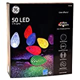 GE Color Effects 50-Count 32.67-ft Multi-Function Color Changing C9 LED Plug-in Indoor/Outdoor Christmas String Lights ENERGY STAR