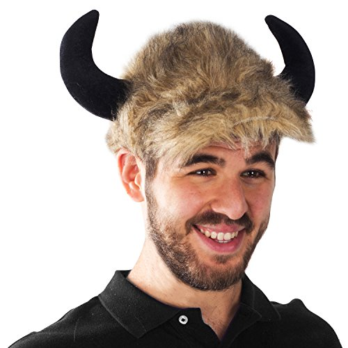Buffalo Bison Hat - Costume Animal Hats - Adult Costume Hats - Animal Costumes by Funny Party Hats