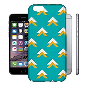 Phone Case For Apple iPhone 6 - Geometric Abstract Triangles Teal Designer Wrap-Around by lolosakes