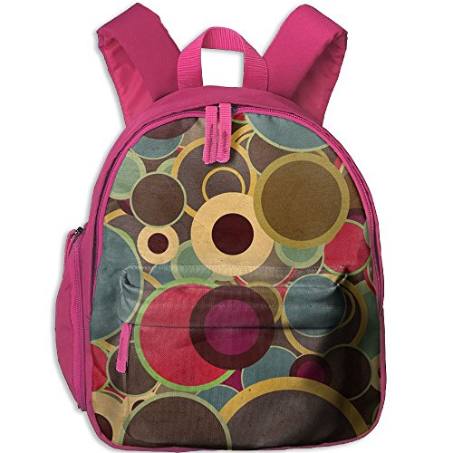 Tweed Bubble (Children Retro Colorful Bubbles School Backpack Gift For Baby Boys & Girls Bookbags School Travel Outdoor Bagpack With Pocket For Toddlers Kids)