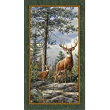 "Quilting Treasures Deer Mountain Fabric Panel = 24"" x 44"""