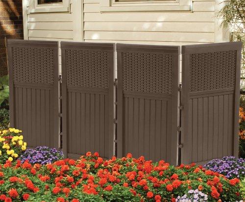 Cheap  Suncast FSW4423 4 Panel Resin Wicker Outdoor Screen