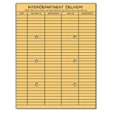 Universal 63568 Light Brown Kraft String & Button Interoffice Envelope, 10 x 13, 100/Box
