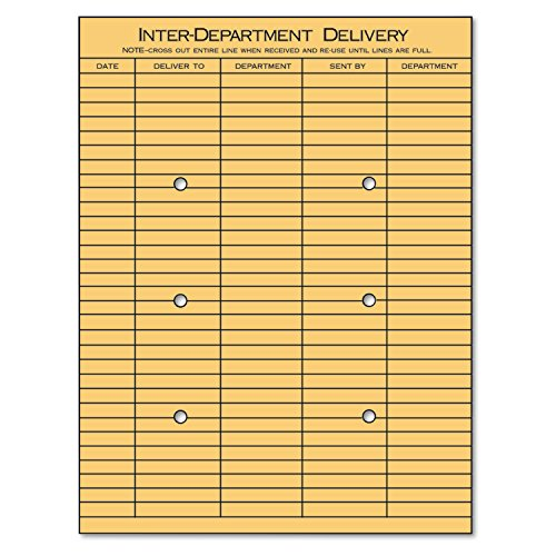Universal 63568 Light Brown Kraft String & Button Interoffice Envelope, 10 x 13 (Box of ()