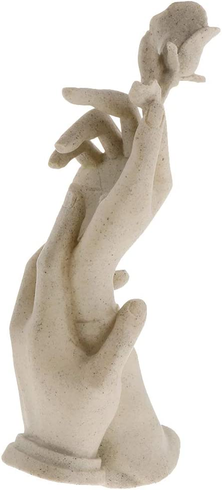 Sculpture Statue Home Simple Abstract Ornaments Hand-held Rose Home Living Room Bedroom Decoration Gift