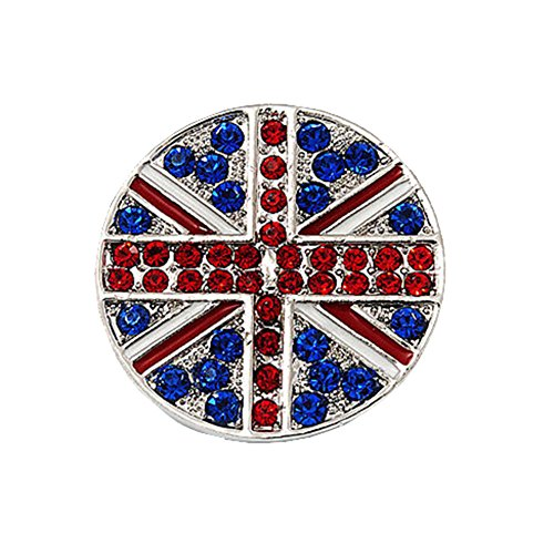 (Bling Stars Union Jack Flag Brooch Crystal Rhinestone British Flag Brooch Pin Badge)