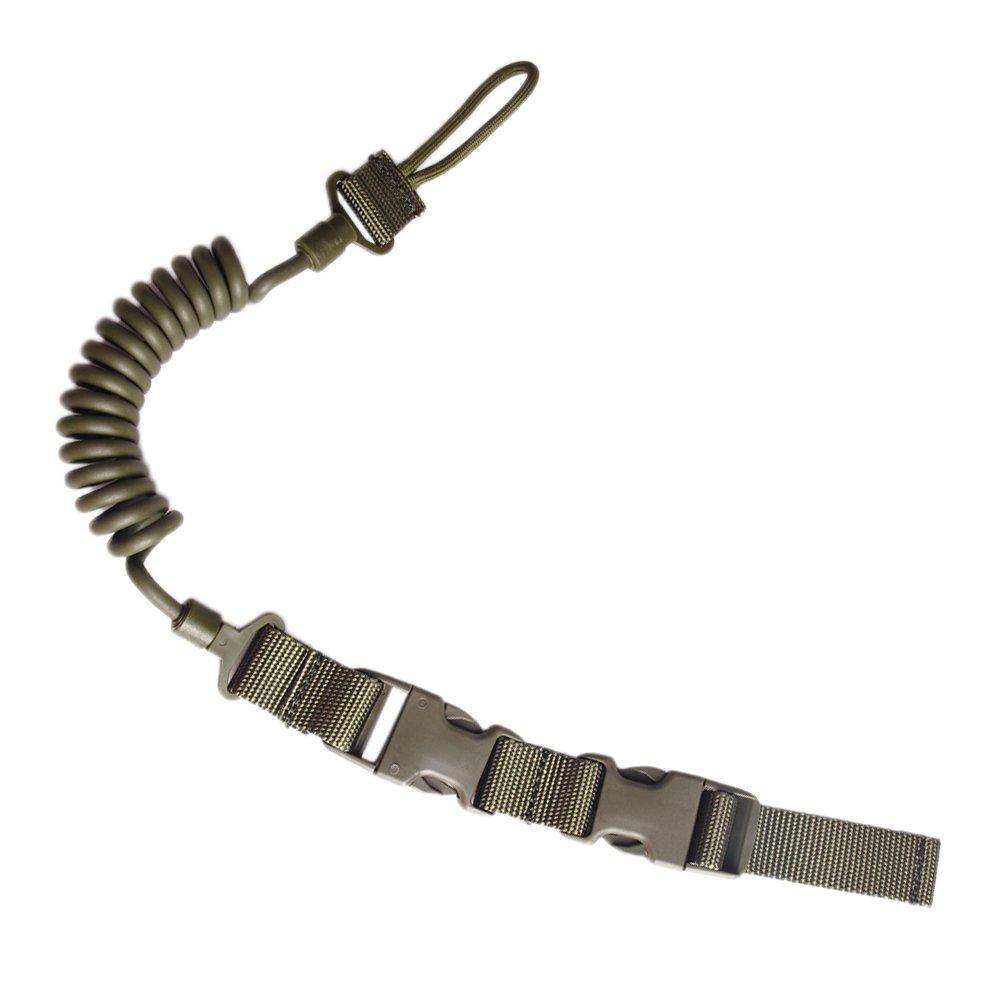ueasy Retractable MOLLE TACTICAL Pistol Lanyard gewickelten Draht ...