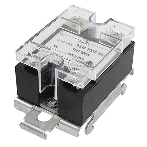 SSR-25DA Type Solid State Relay - RUIKE lyhpcom DC to AC DIN Rail Mount Covered Solid State Relay SS