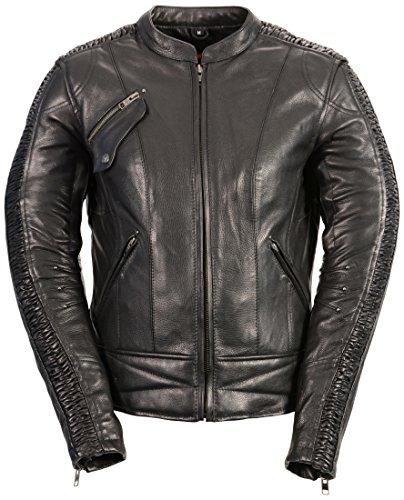 (Milwaukee Leather Women's Embossed Phoenix Jacket (Black, X-Large))