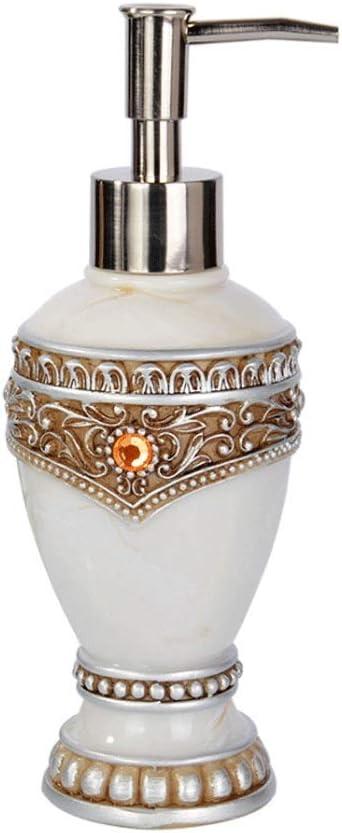 Dispenser WXQIANG Marmorizzazione Soap Dispenser con Pompa a Mano in Argento Bianco Dispenser di Sapone Bocca Larga da Bagno in Resina Housewares Bottiglia casalinghi