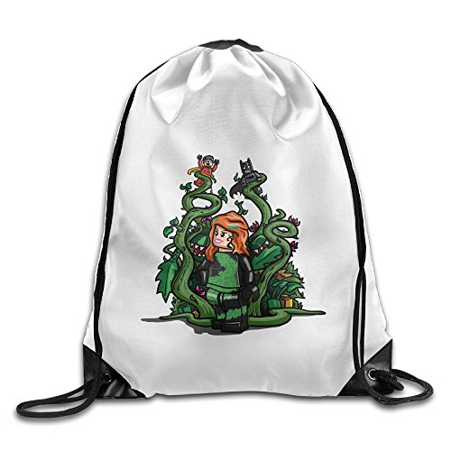 Bekey Poison Ivy Girl Gym Drawstring Backpack Bags - Poison Ivy Messenger Bag