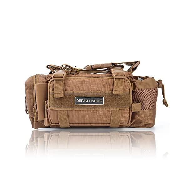 BLISSWILL-Outdoor-Multifunctional-Fishing-Tackle-Bag-Water-Resistant-sided-Waist-Shoulder-Carry-Strap-Storage-Waist-Pack-Sling-Bag-Fishing-Gear-Storage-for-Fishing-Hiking-Climbing