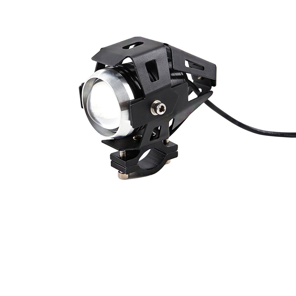 2 Piece U5 LED Motorcycle Headlights 3000LM Motorbike Front Spotlights 3 Modes of High Beam Low Beam And Flashing