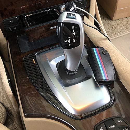 BJJS Panel de Cambio de Marchas de Fibra de Carbono i-Drive para BMW Serie 5 E60 E61 6DW