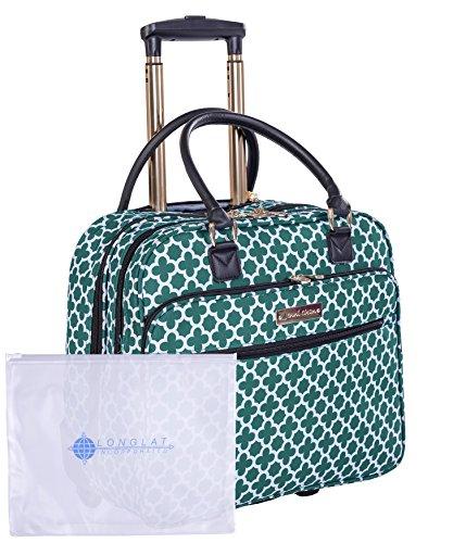 Jenni Chan Medley 2-Piece Set 18'' Wheeled 311 Bag Travel Tote, Green, One Size by Jenni Chan